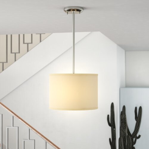 Mack & Milo™ Kasey 3 - Light Unique Drum Pendant & Reviews | Wayfa