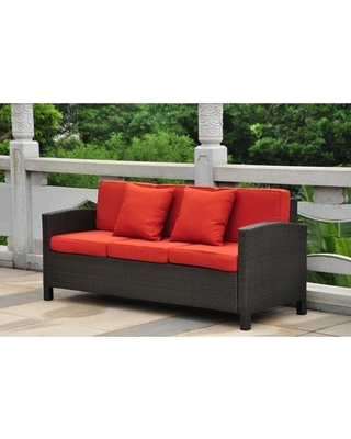 Hot Sale: Katzer Patio Sofa with Cushions Brayden Studio Frame .