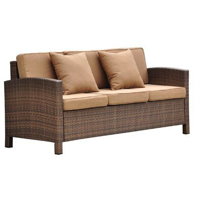 Katzer Patio Sofa with Cushions Frame Color/ Cushion Color .
