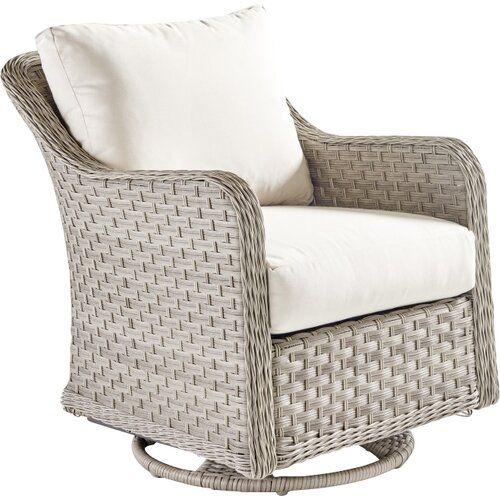 Keever Patio Sofa with Sunbrella Cushions | Glider chair, Rocking .