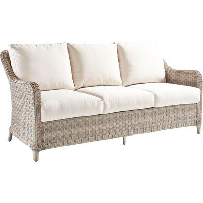 Keever Patio Sofas With Sunbrella Cushions