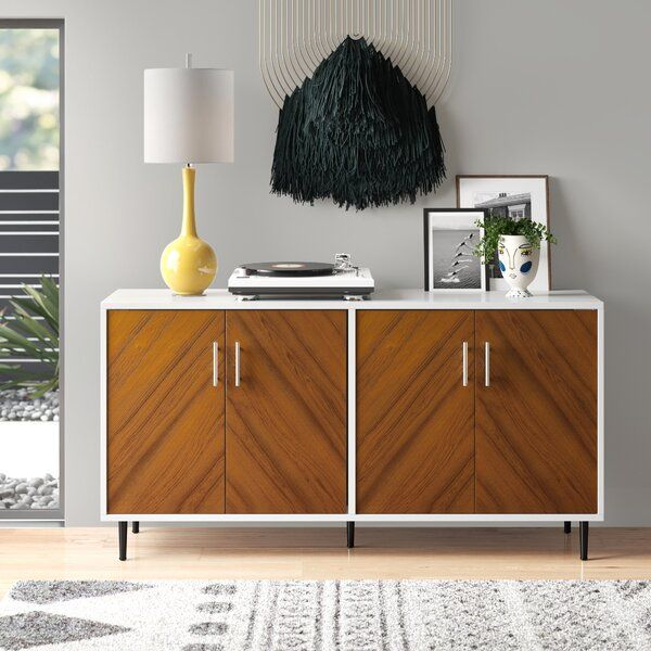 "Keiko Bookmatch 58"" Wide Sideboard in 2020 