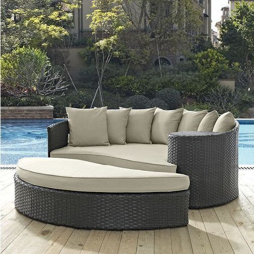 Keiran Patio Daybeds With Cushions in 2020 | Patio daybed, Patio .
