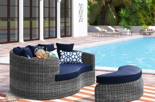 Brayden Studio® Keiran Patio Daybed with Cushions & Reviews | Wayfa