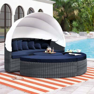 Brayden Studio Keiran Daybed with Cushions Fabric: Navy in 2020 .