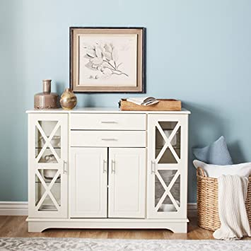 Amazon.com - White Kendall Buffet Cream Modern Contemporary .