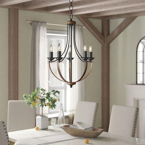 Kenna 5 - Light Empire Chandelier | Farmhouse chandelier, Empire .