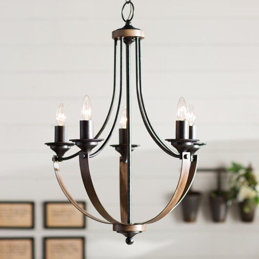 Kenna 5 - Light Empire Chandelier | Farmhouse chandelier, Candle .