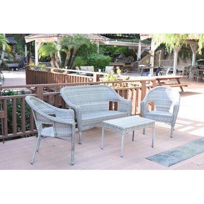 Alcott Hill Kentwood Resin Wicker 4 Piece Sofa Seating Group .