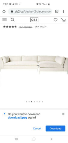 White Sectional Sofa- CB2 | Couches & Futons | Mississauga / Peel .