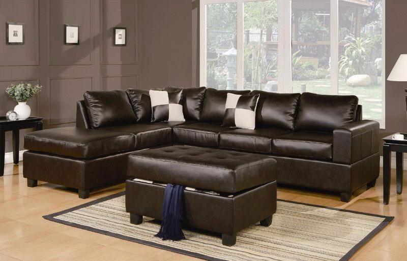 FREE DELIVERY in Montreal! Leather Sectionals with Reversible .