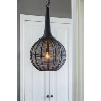 Williston Forge Kilby 1 - Light Single Globe Pendant & Reviews .