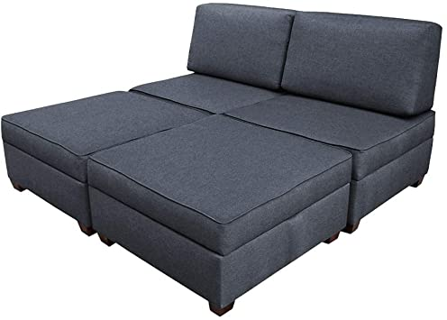Amazon.com: Duobed Sofa Bed, King Size, Blue: Kitchen & Dini