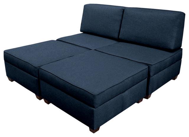 "Duobed King Sleeper Sofa 72""x72"" - Transitional - Sleeper Sofas ."