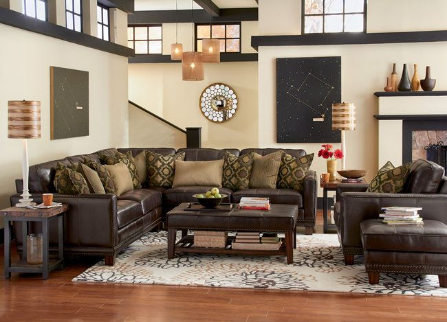Kingston 3-Piece Leather Sectional, a member of the Kingston .