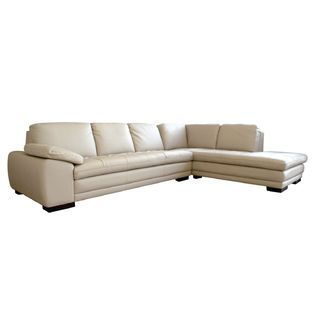 $2002.49 Baxton -Jaquenetta Leather 2-pcs Sofa Set in Beige .