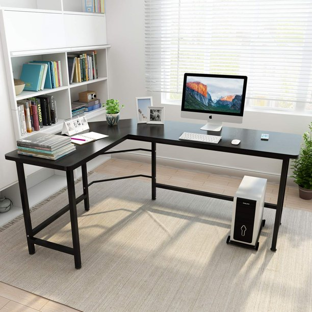 Ktaxon L-Shaped Computer Desk Corner PC Latop Table Study Office .