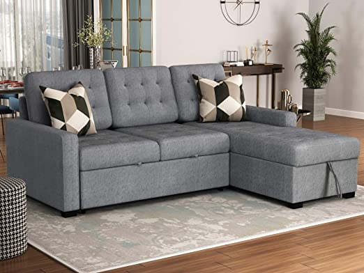 Amazon.com: Upholstery Sectional Sofa Convertible Sectional Sofa .
