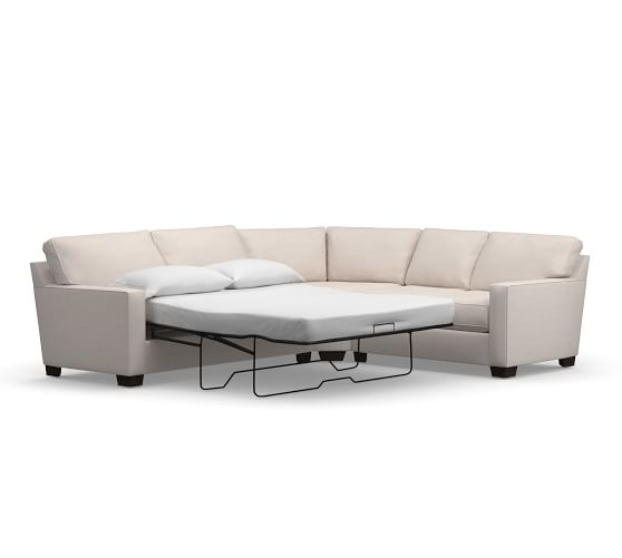 Buchanan Square Arm Upholstered 3-Piece L-Sleeper Sectional with .
