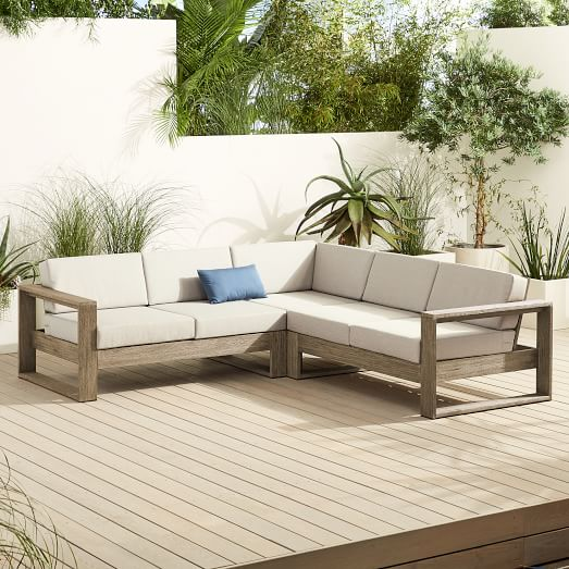 Portside Outdoor 3-Piece L-Shaped Section