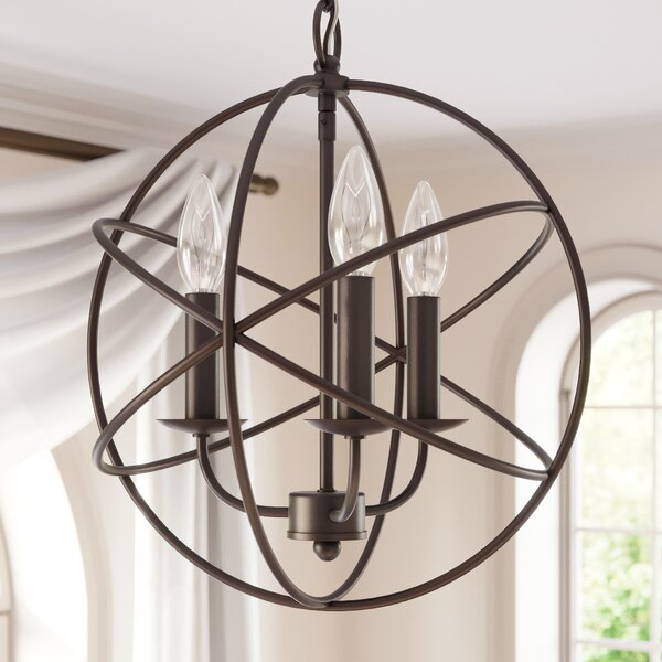 Alcott Hill Nickerson 3-Light Globe Chandelier & Reviews | Wayfa