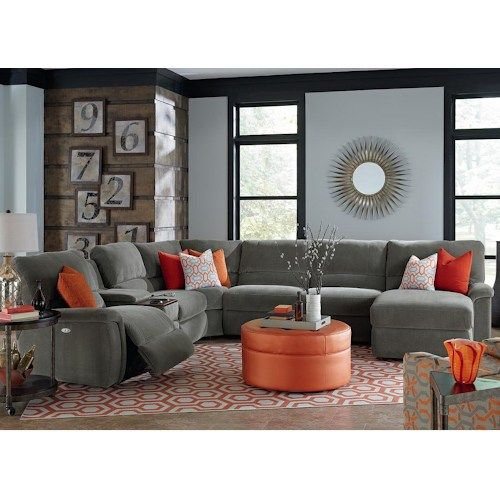 La-Z-Boy ASPEN Seven Piece Power Reclining Sectional Sofa with .