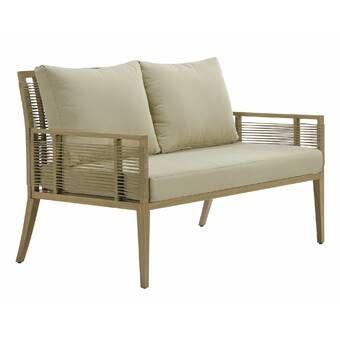 Lakeland Teak Patio Sofa with Cushions in 2020 | Patio loveseat .