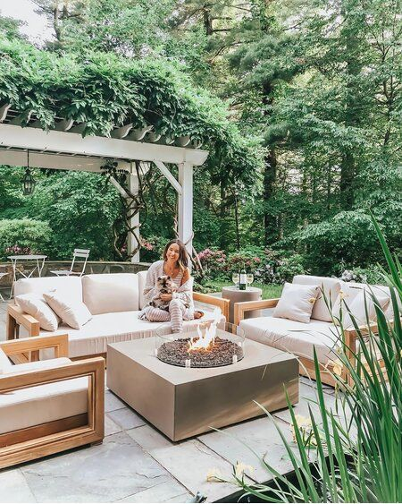 The Lakeland Teak Patio Sofa with Cushions was made for you. Make .