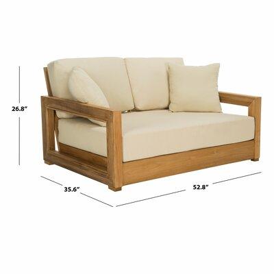 Lakeland Teak Patio Sofa with Cushions | Joss & Ma