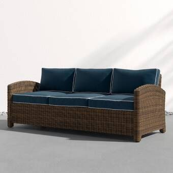Metz Patio Sofa with Cushions in 2020 | Patio couch, Patio sofa .