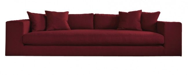 Straton Modern Style Large 4 Seater Sofa Maroon | Maroon sofas .