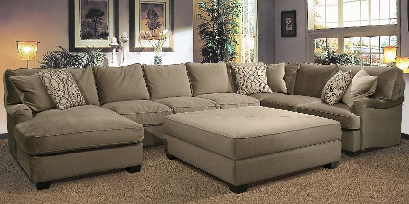 U Shaped Sectional Sofa with Oversized Ottoman | U shaped .
