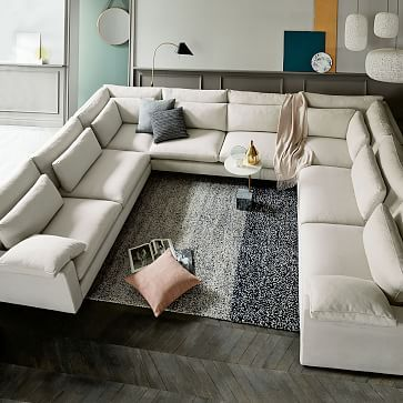 Modular - Harmony Sectional (Extra Deep) | U shaped sectional sofa .
