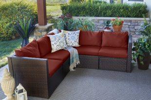 Mercury Row Larsen Patio Sectional with Cushions & Reviews | Wayfa