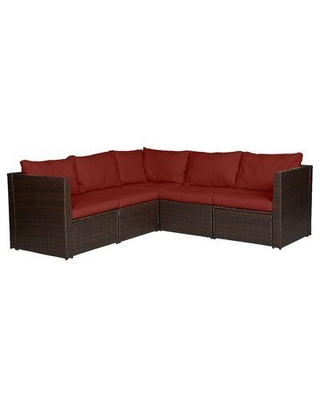 Great Sales on Mercury Row Larsen Patio Sectional with Cushions .