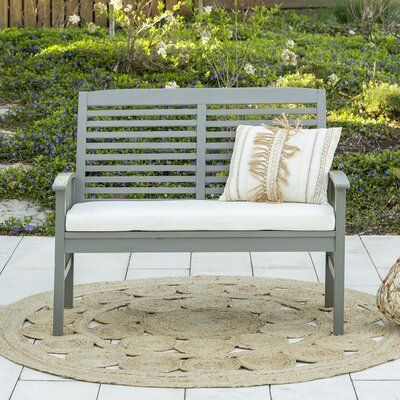 Sol 72 Outdoor Laverton Loveseat with Cushions Frame Color: Gray .