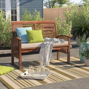 Mistana Lavina Outdoor Patio Daybed with Cushions | Patio loveseat .