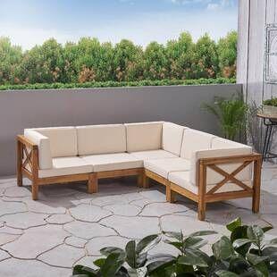 Mistana Lavina Outdoor Patio Daybed with Cushions | Wayfair .