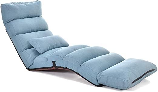 Amazon.com: Koreyosh Folding Lazy Sofa Chair Lounge Chair with .