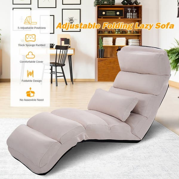 Shop Costway Folding Lazy Sofa Chair Stylish Sofa Couch Beds .