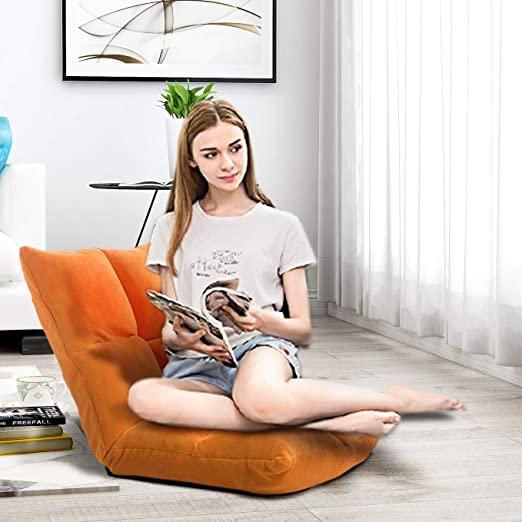 Amazon.com: Merax Sofa Floor Chair Lazy Sofa Adjustable Five .