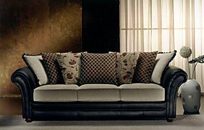 3+2 Seater Meteora Designer Leather Fabric Sofa Suite - Buy .