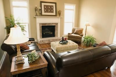 The Best Paint Color to Go With Cherry Wood | Living room leather .