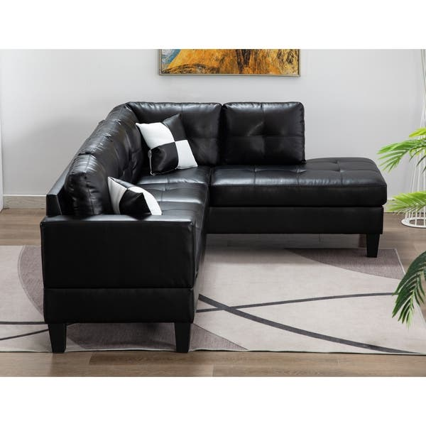 Shop Suede Sectional Sofa with Faux Leather Base and Storage .