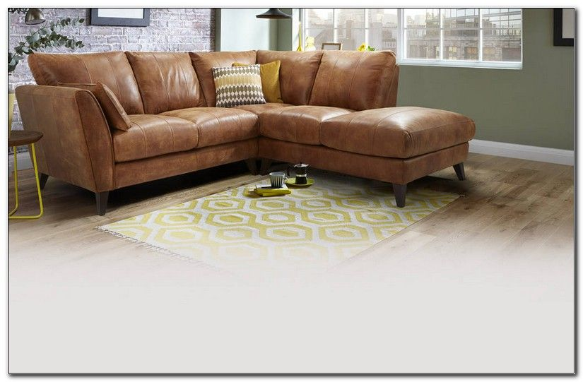 Light Brown Leather Corner Sofa | Leather corner sofa, Brown .