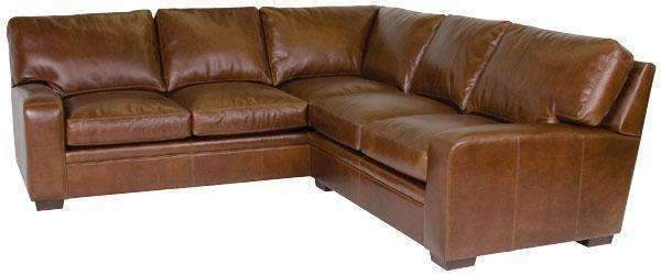 Benjamin Designer Style Contemporary Leather Sectional - As .