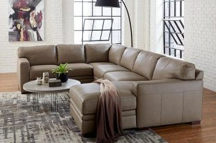 Furniture Avenell Leather Sectional and Sofa Collection, Created .