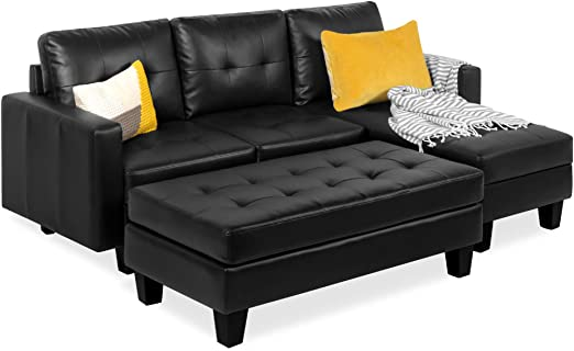 Amazon.com: Best Choice Products 3-Seat L-Shape Tufted Faux .