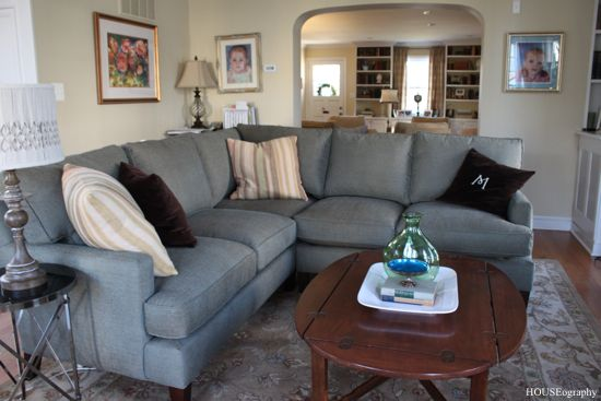 HOUSEography: Family Room: Sectional Love | Home design living .
