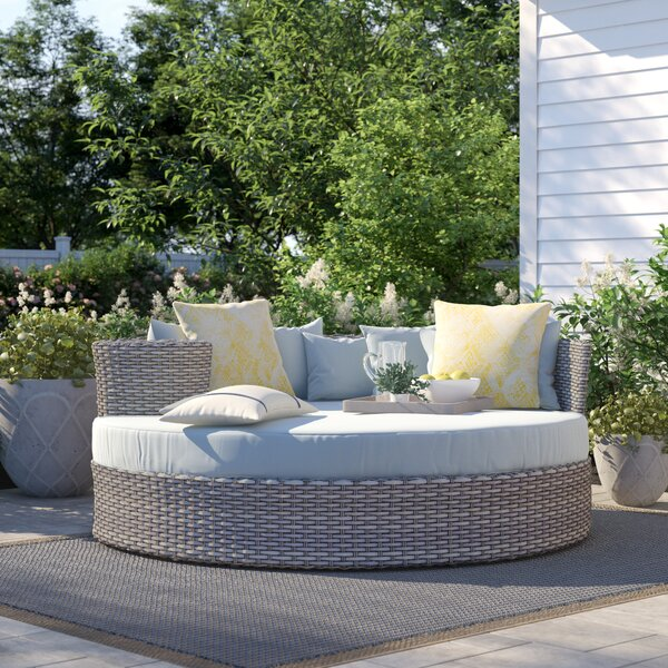 Outdoor Circular Daybed Wicker | Wayfa